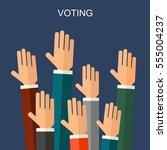 election voting vector... | Shutterstock .eps vector #555004237
