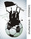 soccer ball with crowd... | Shutterstock .eps vector #55500601