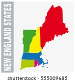 Colorful New England States ...