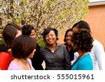 best friends. women only. | Shutterstock . vector #555015961