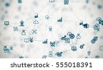 internet of things  background... | Shutterstock . vector #555018391