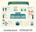 office people infographics web... | Shutterstock .eps vector #555018745