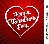 happy valentines day... | Shutterstock . vector #555028189