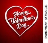 happy valentines day... | Shutterstock . vector #555028231