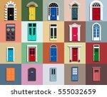 vector doors set. different... | Shutterstock .eps vector #555032659