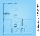 project of house in blue color. ... | Shutterstock .eps vector #55503277