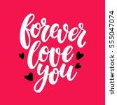 valentine s day vector... | Shutterstock .eps vector #555047074