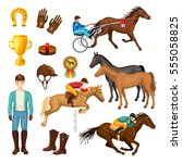 Equestrian Cartoon Elements...