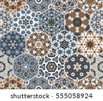 bright seamless pattern of... | Shutterstock .eps vector #555058924