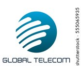 global telecom logo | Shutterstock .eps vector #555065935