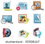 vector photography icons. part 5 | Shutterstock .eps vector #55508167