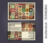 vector business card design... | Shutterstock .eps vector #555082801