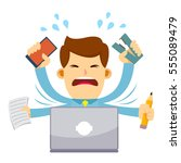 vector stock of a businessman... | Shutterstock .eps vector #555089479