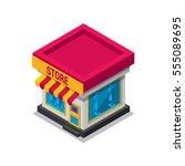 isometric store icon   Shutterstock .eps vector #555089695