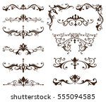 oriental ornaments borders... | Shutterstock .eps vector #555094585