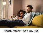 african american couple...   Shutterstock . vector #555107755