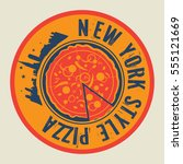 vintage pizza stamp or tag with ...   Shutterstock .eps vector #555121669