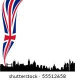 detailed black vector london... | Shutterstock .eps vector #55512658