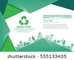 ecology connection  concept... | Shutterstock .eps vector #555133435