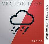 weather icon. | Shutterstock .eps vector #555136579