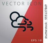 weather icon. | Shutterstock .eps vector #555137869