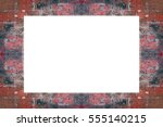 old grunge weathered peeled... | Shutterstock . vector #555140215