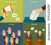 elections and voting concept... | Shutterstock .eps vector #555141634