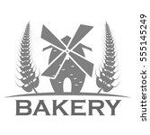 bakery logo design | Shutterstock .eps vector #555145249