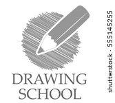 pencil drawing logo design | Shutterstock .eps vector #555145255