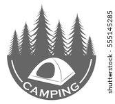 camping logo design template | Shutterstock .eps vector #555145285
