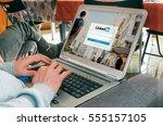 barcelona  spain   march 27 ... | Shutterstock . vector #555157105