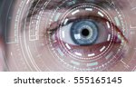 human being futuristic vision ... | Shutterstock . vector #555165145