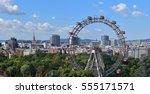 vienna postcard. panoramic view ... | Shutterstock . vector #555171571