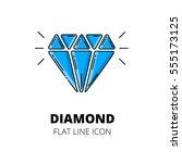 diamond symbol. colored flat...   Shutterstock .eps vector #555173125