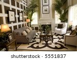 living room with luxury decor | Shutterstock . vector #5551837