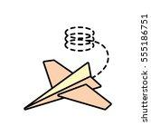 paper plane creative idea icon...