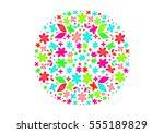 vector illustration of sphere... | Shutterstock .eps vector #555189829