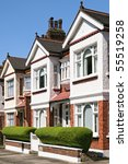 Row Of Typical English Terraced ...