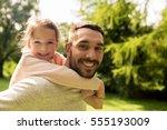 family  parenthood  fatherhood... | Shutterstock . vector #555193009
