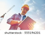 business  building  industry ... | Shutterstock . vector #555196201