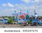 chonburi  jan 12   the sea food ... | Shutterstock . vector #555197275