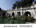 Small photo of Caserta, Italy - July 29th, 2016 : Part of Aeolus fountain in Royal Palace Gardens of Caserta, Campania, Italy.