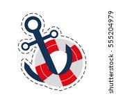 buoy anchor nautical travel... | Shutterstock .eps vector #555204979