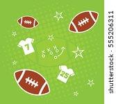 american football background | Shutterstock .eps vector #555206311