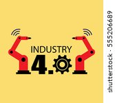 industry 4.0 vector illustration | Shutterstock .eps vector #555206689