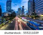 traffic rushes in jakarta...   Shutterstock . vector #555211039