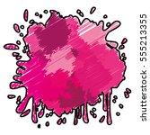 pink paint splash over white...   Shutterstock .eps vector #555213355
