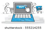 shopping and e commerce  vector ... | Shutterstock .eps vector #555214255