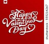 vector happy valentines day... | Shutterstock .eps vector #555214267