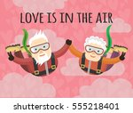 love is in the air | Shutterstock .eps vector #555218401